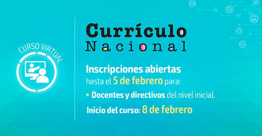 Convocatoria a curso sobre el «Currículo Nacional» para el nivel Inicial (Inscripción hasta el 5 Febrero)