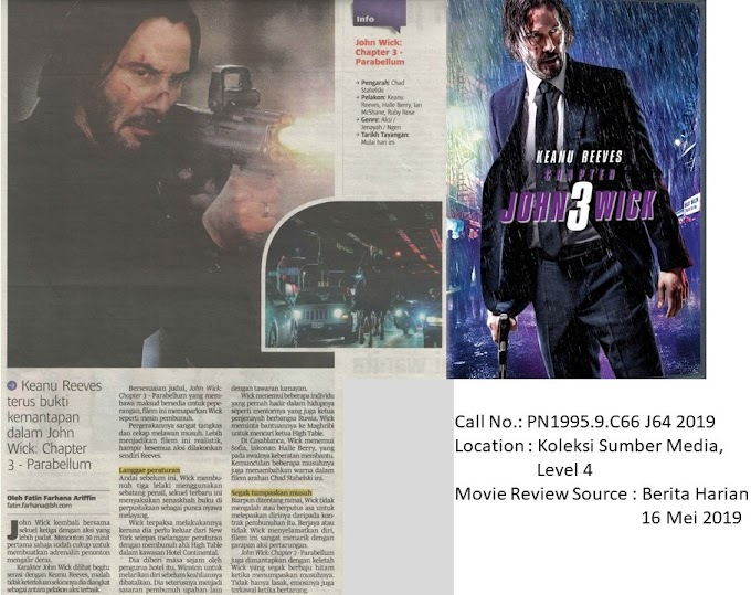 Movie Review on 'John Wick : Chapter 3 - Parabellum'