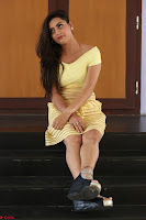 Shipra gaur in V Neck short Yellow Dress ~  009.JPG