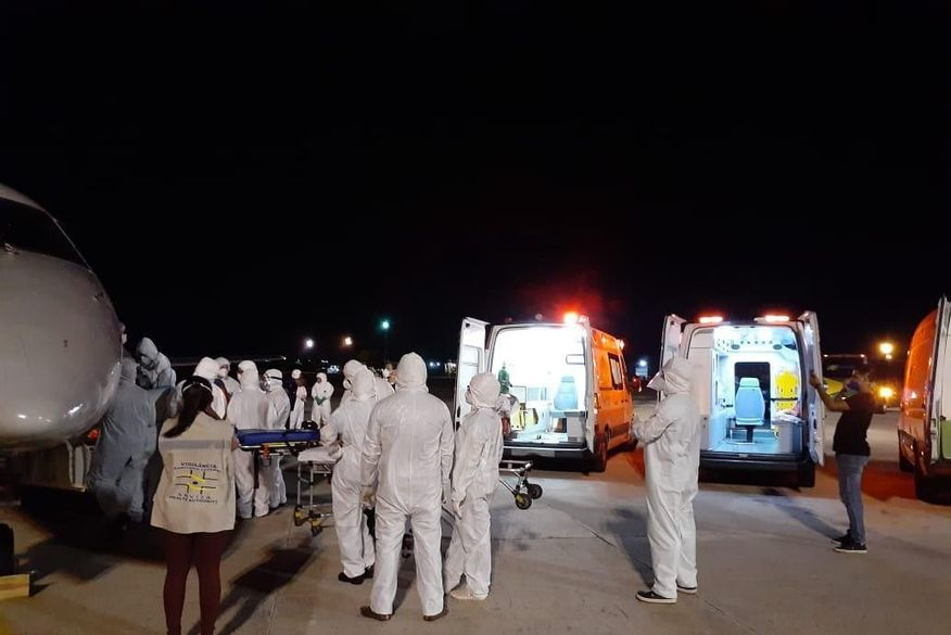 Paraíba recebe mais 15 pacientes de Manaus com Covid-19 e transferidos são levados ao HU