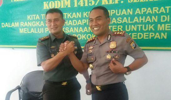 Ini Bukti Sinergitas TNI-POLRI, Di Kabupaten Kepulauan Selayar