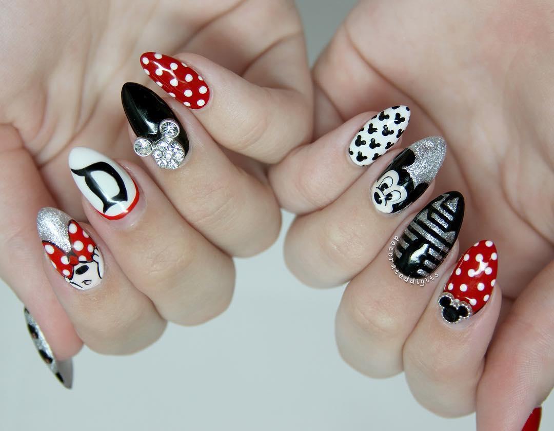 Uñas de Mickey 2017 ¡Diseños Bellos! | Moda y Tendencias 2018 - 2019 ...
