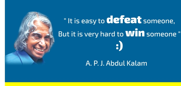 abdul kalam inspirational quotes for students