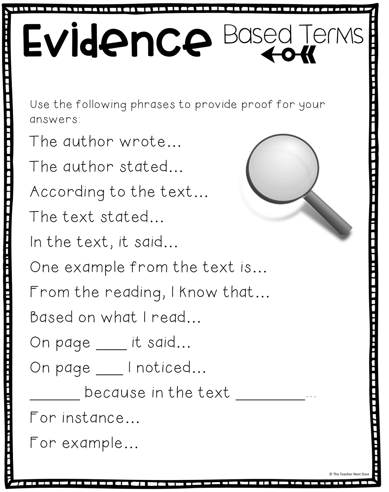 worksheet Citing Text Evidence Worksheets upper elementary snapshots citing text evidence in 6 steps 7 or the second paragraph we also spend some time working on using commas and quotation marks properly which is a skill th