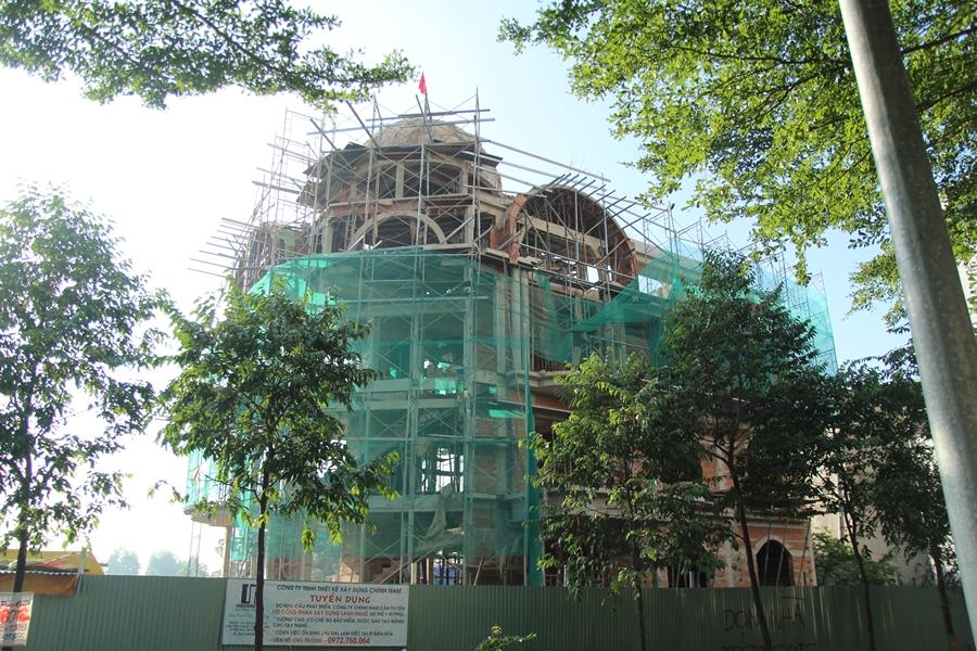 Hình ảnh thi công công trình biệt thự kiểu Pháp tại Biên Hòa