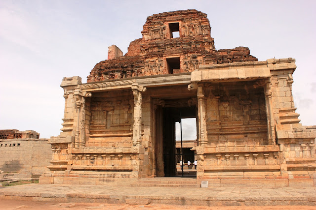 Hampi - entrance of Bala Krishna  Temple