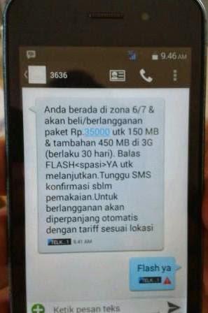 """Cara Mengatasi Masalah Konfirmasi Pembelian Paket Internet Telkomsel """"FLASH YA"""" Tidak Terkirim"""