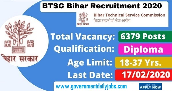 BTSC Junior Engineer Recruitment 2020