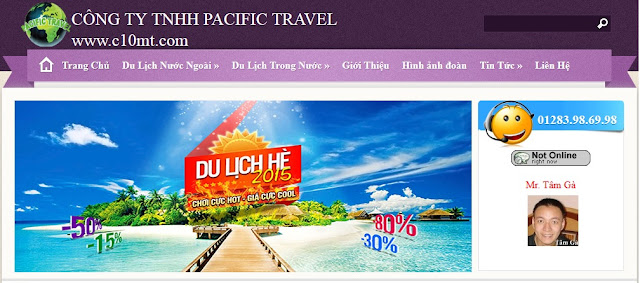 Pacific Travel 01283986998