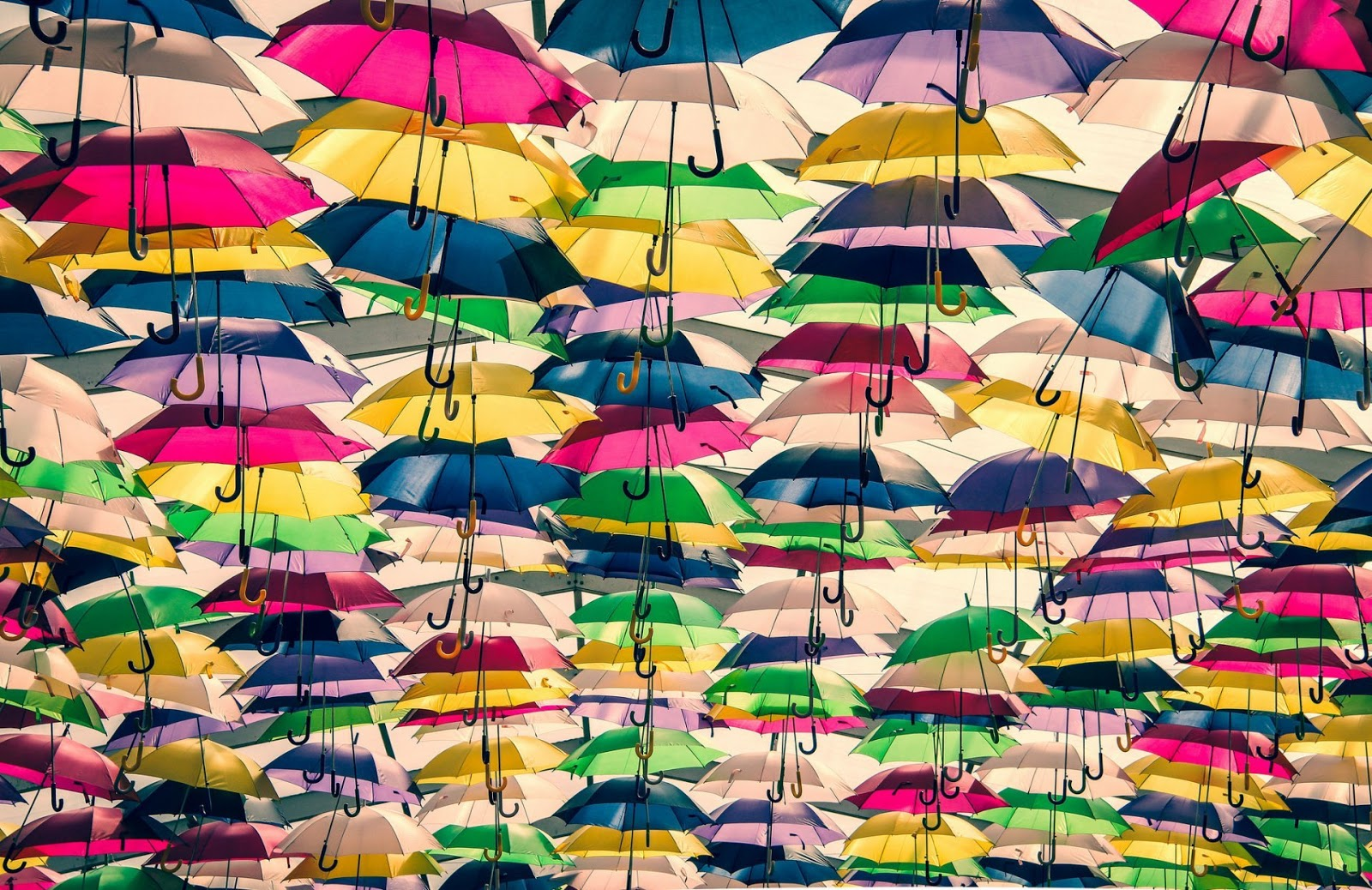 umbrellas colored  backgrounds HD wallpapers