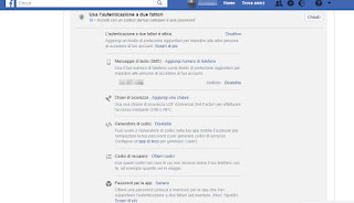 Protezione Facebook