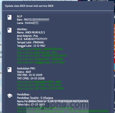 Status Warning Kelengkapan Data di Info GTK