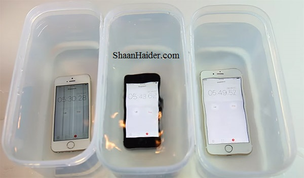 Apple iPhone SE vs iPhone 6S vs iPhone 5S - Water Test
