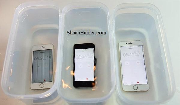 Apple iPhone SE vs iPhone 6S vs iPhone 5S - Water Test