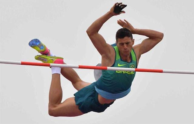 Esportista brasileiro em ação