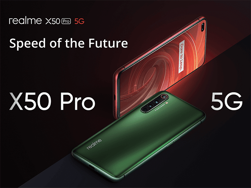 Realme X50 Pro 5G with 90Hz screen, SD865, 65W SuperDart, 6 cameras, announced!