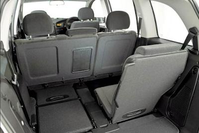 mekanisme pelipatan kursi Chevrolet Zafira