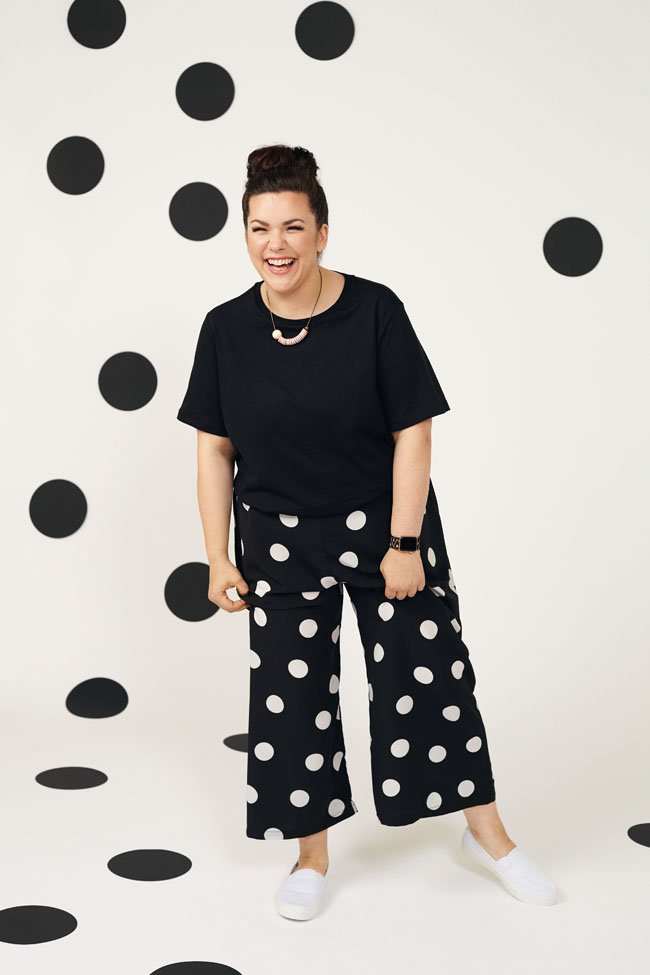 Safiya trousers from Make It Simple by Tilly Walnes