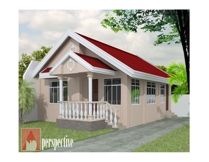 25 tiny beautiful house very small house for Simple bungalow house design with terrace