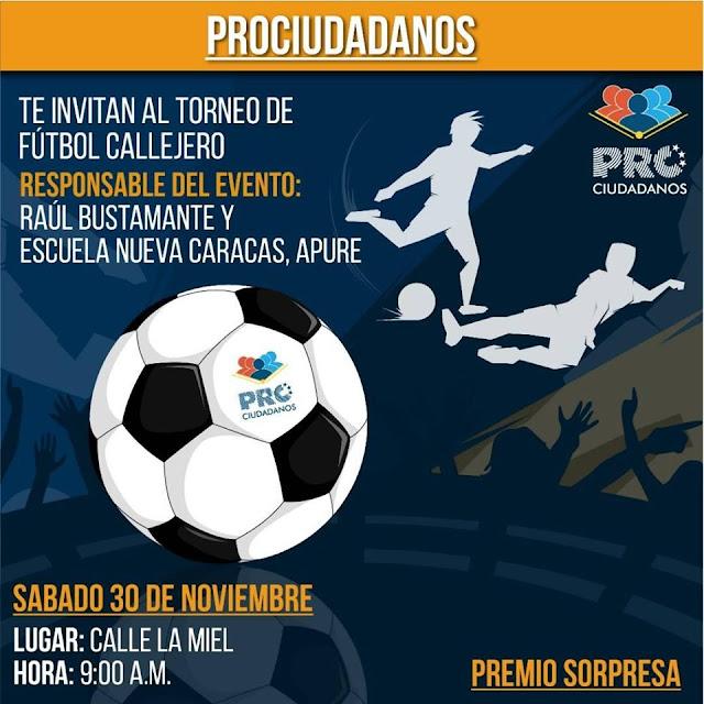 APURE: Proyecto Fútbol Calle Apure cierra este año con festival en la comunidad de centro valle.