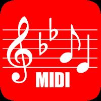 تطبيق هاتفي midi score عند العزف يكتب النوتة الموسيقية