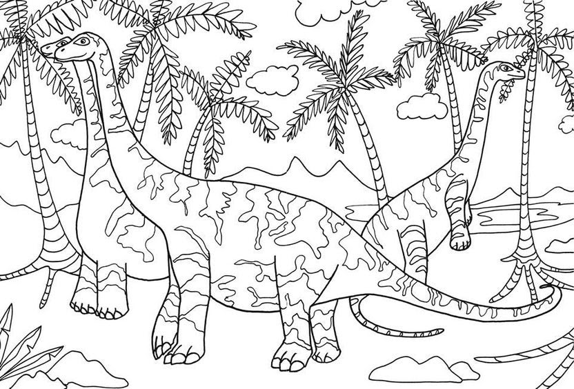 Dinosaurs coloring pages 1