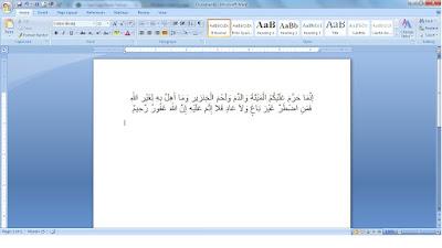 Langkah Mudah Melakukan Copy Paste Tulisan Arab Ke Word