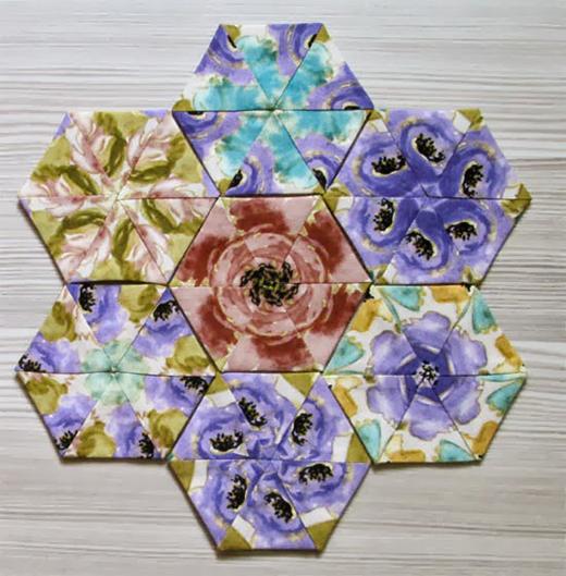 Kaleidoscope Hexagons Free Quilt Tutorial