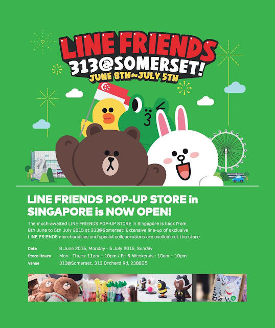 LINE FRIENDS Pop Up Store Singapore Somerset 2015