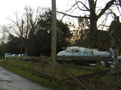 aircraft at the side of a lane