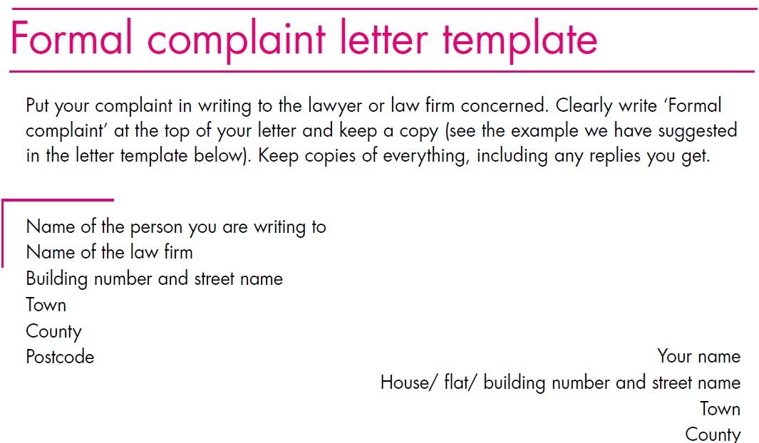 Proper Complaint Letter Format - Arch-times - proper complaint letter format