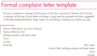 complaint letter template: Formal complaint against to lawyer example