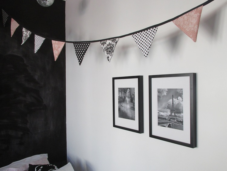 Paris Party DIY bunting and Paris prints