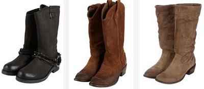 Ejemplos de botas de piel para mujeres de Diesel