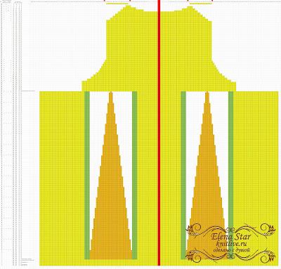 Технологическая схема спинки сарафана