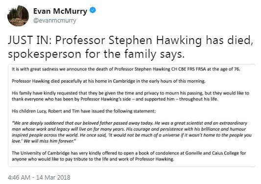 Physicist Stephen Hawking | PintFeed