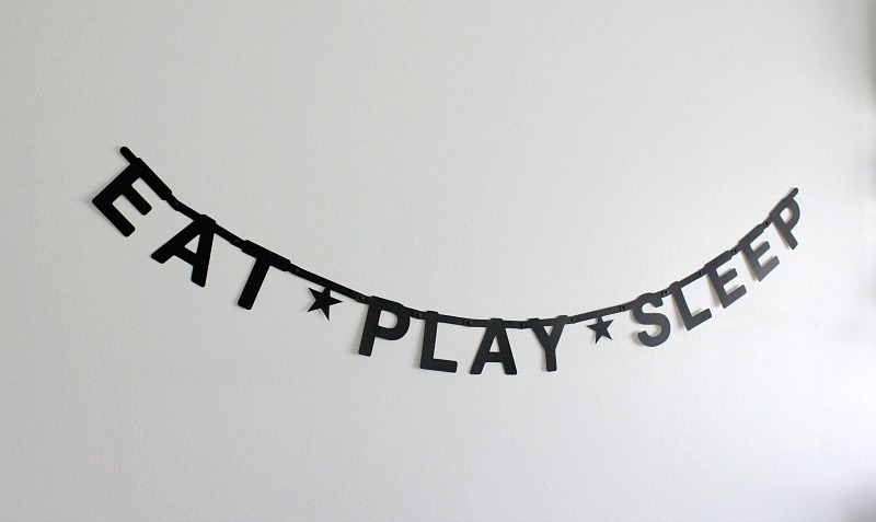 black and white kid's room decor