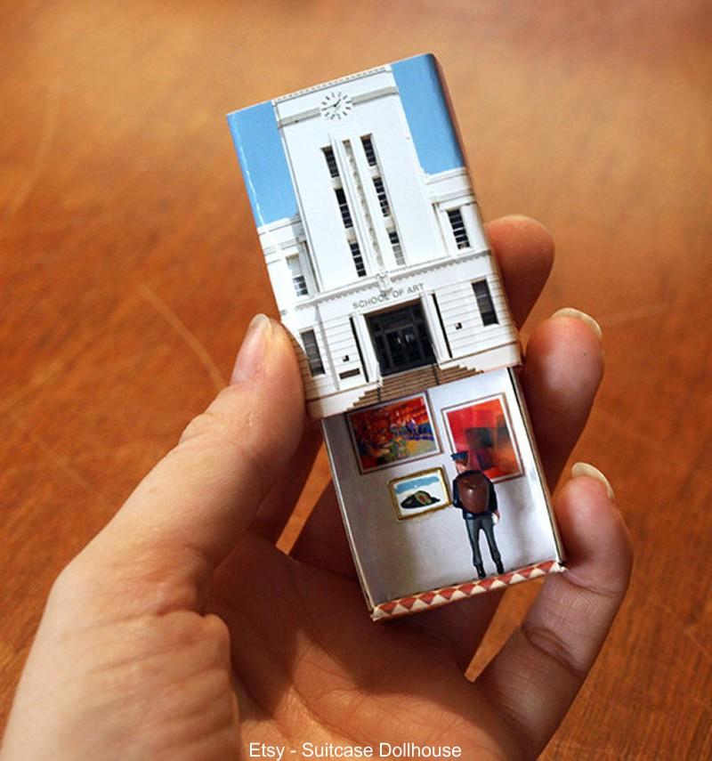 Miniaturas em caixas de fósforo