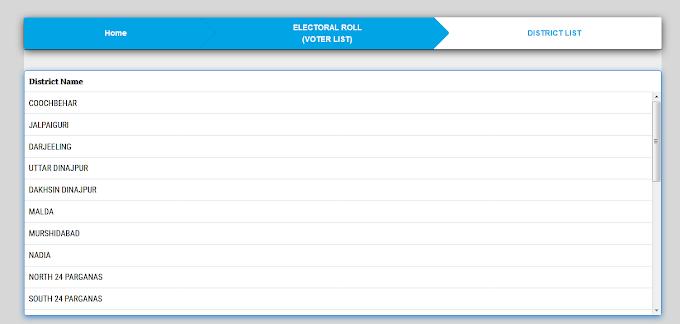 Download West Bengal Voter List 2020 ( PDF File ) All District ,List date 27-03-2020 WBScheme
