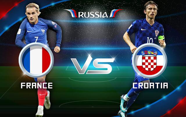 مشاهدة مباراة فرنسا وكرواتيا بث مباشر