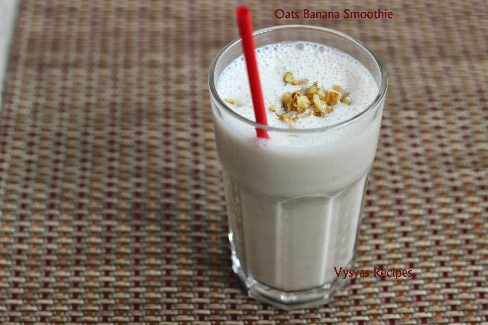 Oats banana smoothie