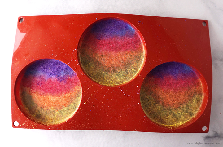 Resin with Sunset Mica Powders