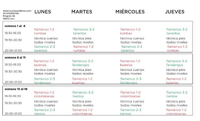 Intensivos baile flamenco Lucero Cardenas julio 2019