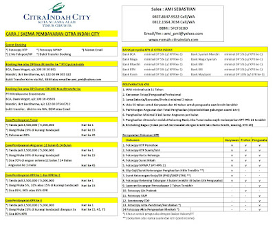 Syarat KPR dan Cara Bayar Citra Indah City