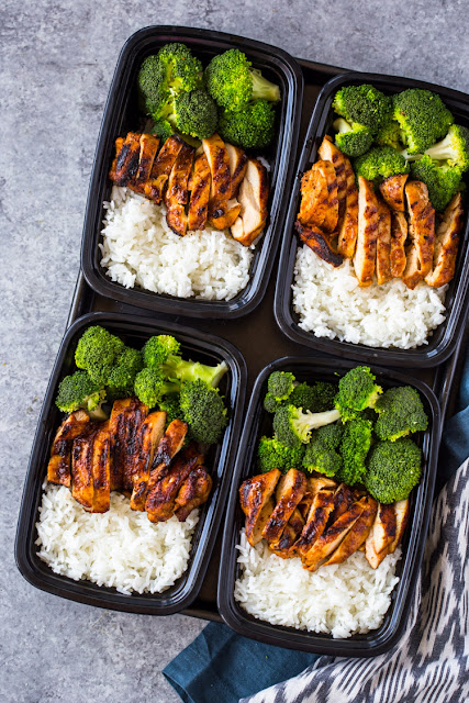 MEAL-PREP CHICKEN, RICE AND BROCCOLI