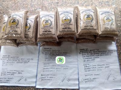 Benih padi yang dibeli BAMBANG PRASETYO Palembang, Sumut. (Sebelum packing karung ).