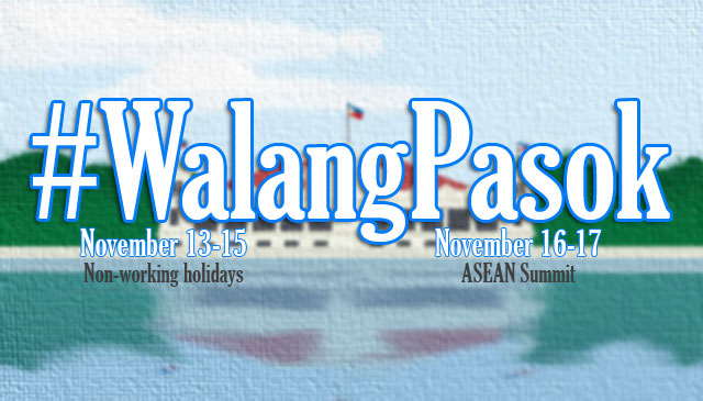 Malacanang: Classes and Works are Suspended during ASEAN Summit