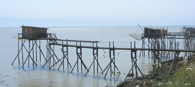 Fishing huts, Charente-Maritime, France. Photo by Loire Valley Time Travel.