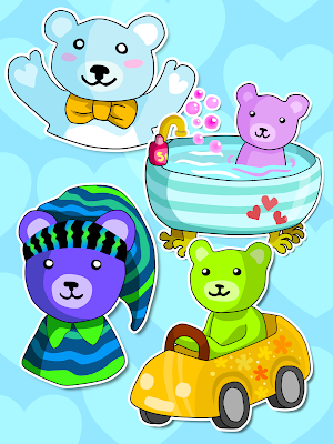 iMessage stickers of cute teddy bears / iMessage-tarroja söpöistä nallekarhuista