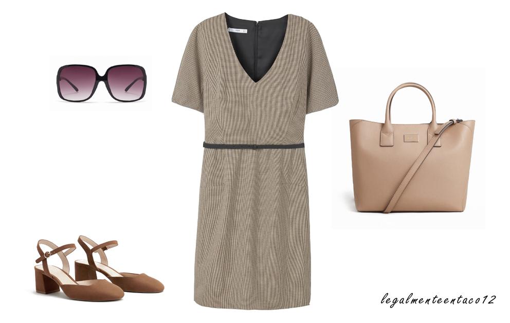 Vestido marrón para la oficina